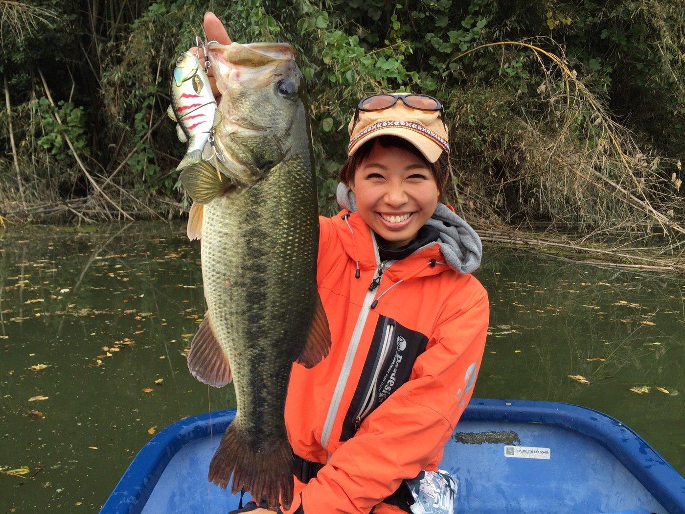 Bunさんの投稿画像,写っている魚はブラックバス