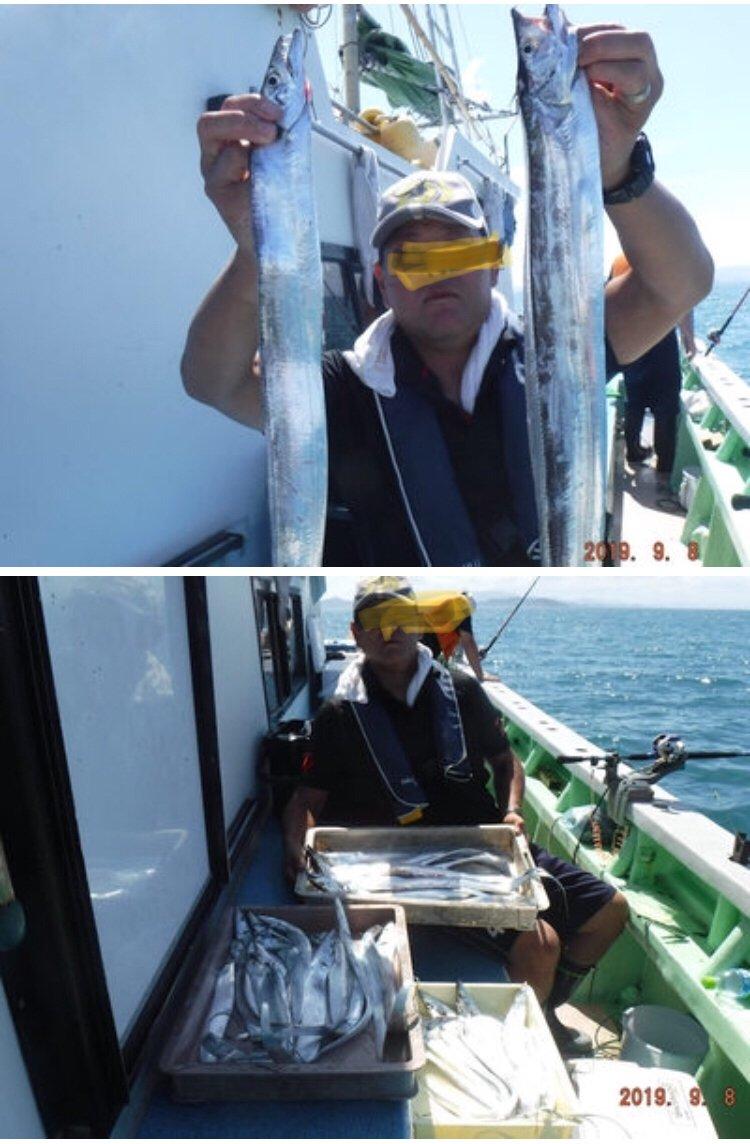 釣りひよりさんの投稿画像,写っている魚はタチウオ