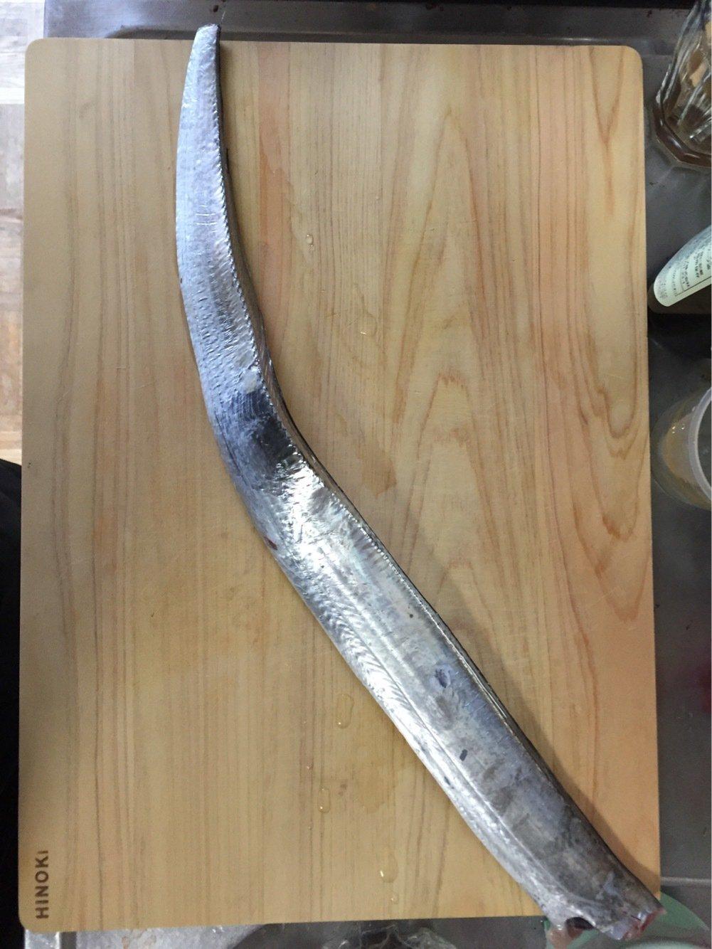 ぺーぺさんの投稿画像,写っている魚はタチウオ