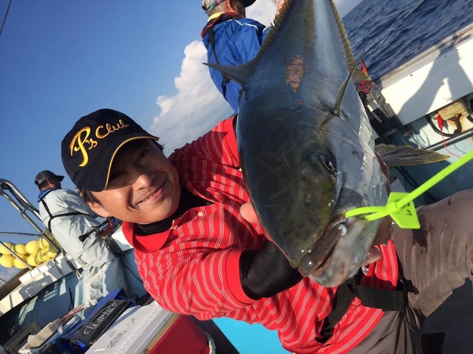 きみちゃんさんの投稿画像,写っている魚はヒラマサ