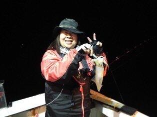 ジョーコーギーさんの投稿画像,写っている魚はケンサキイカ