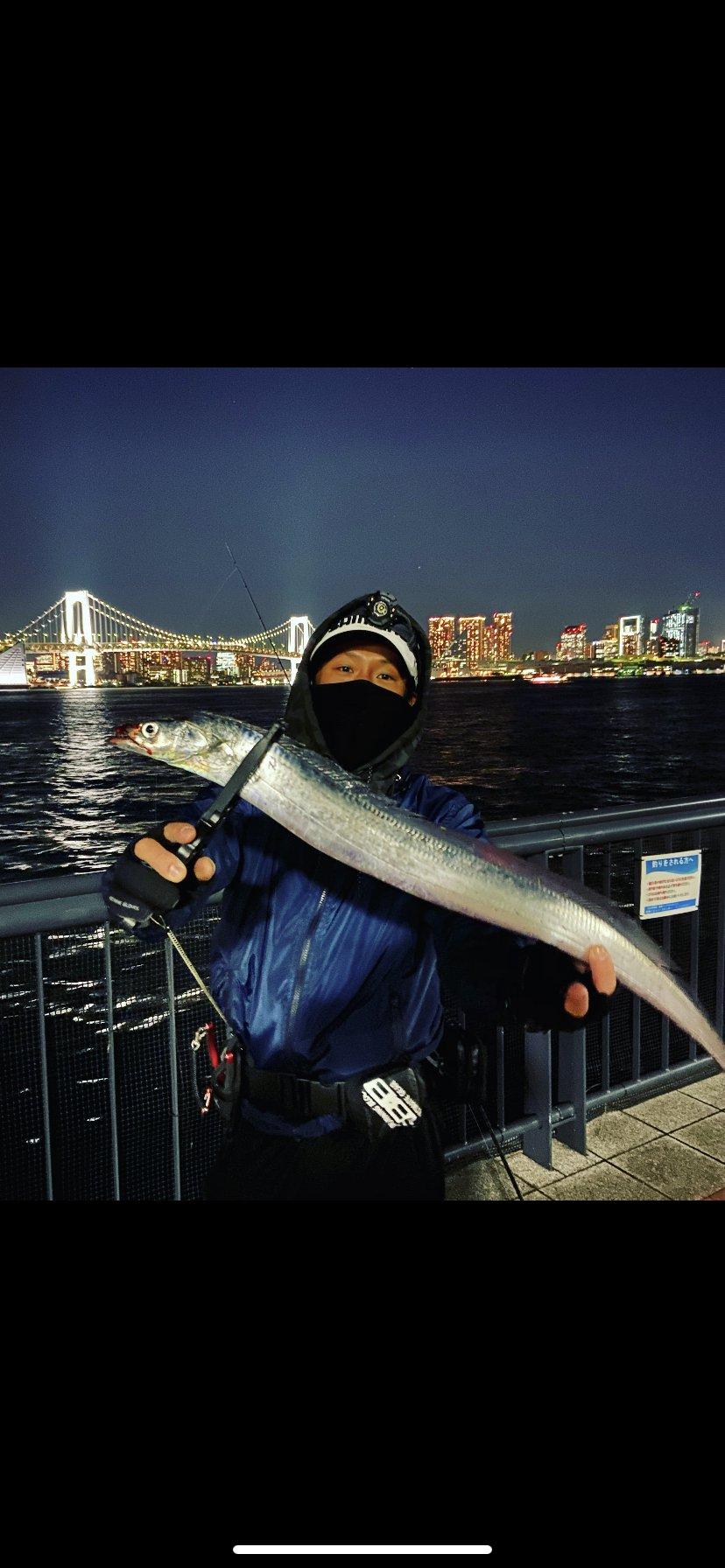 大地さんの投稿画像,写っている魚はタチウオ,