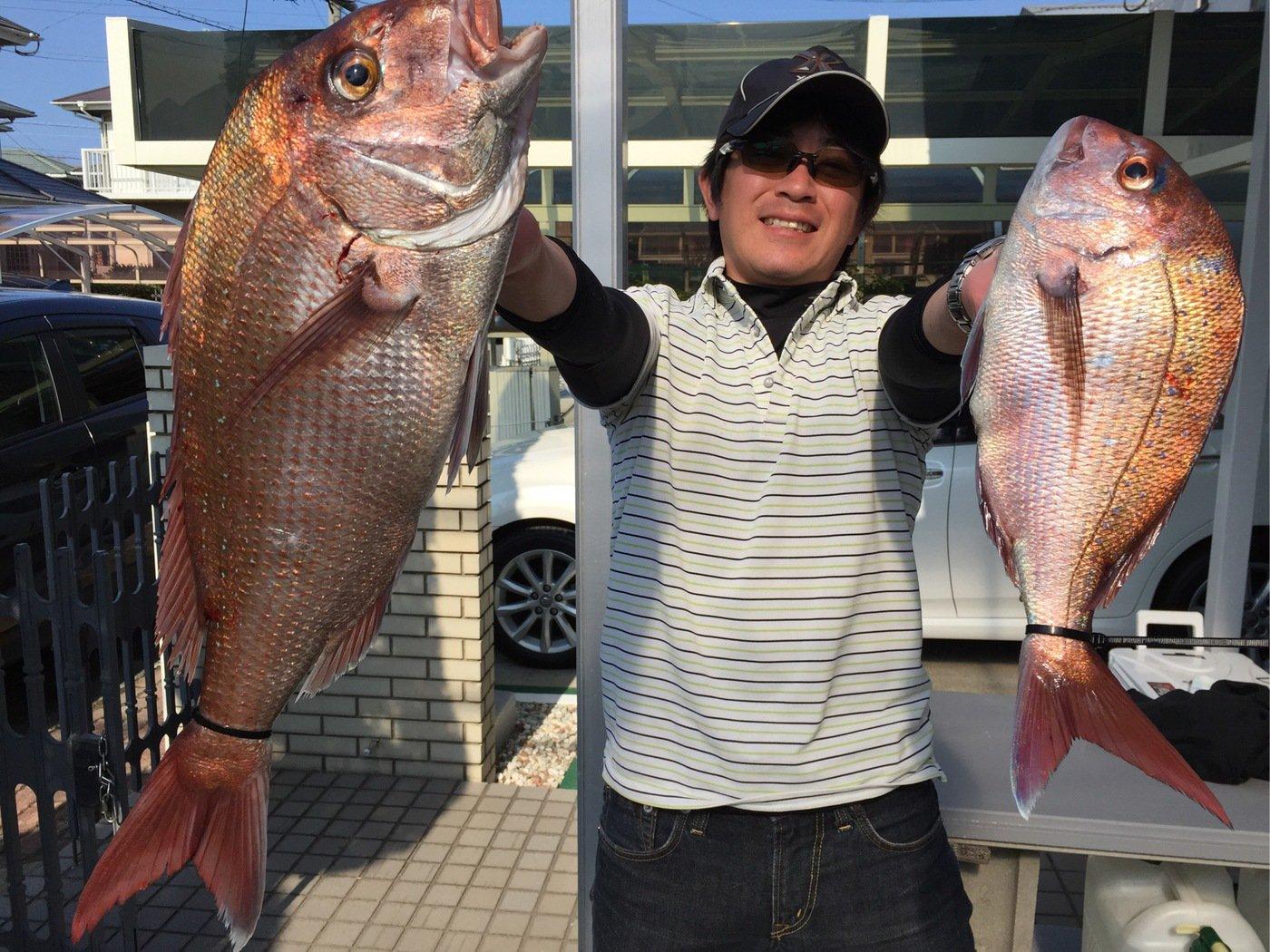 ミヤモトミチヒコさんの投稿画像,写っている魚はマダイ