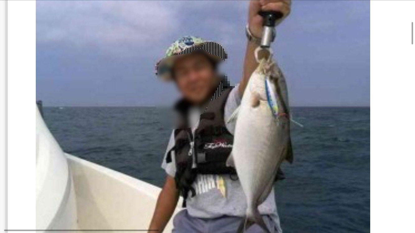 なみともさんの投稿画像,写っている魚はカンパチ