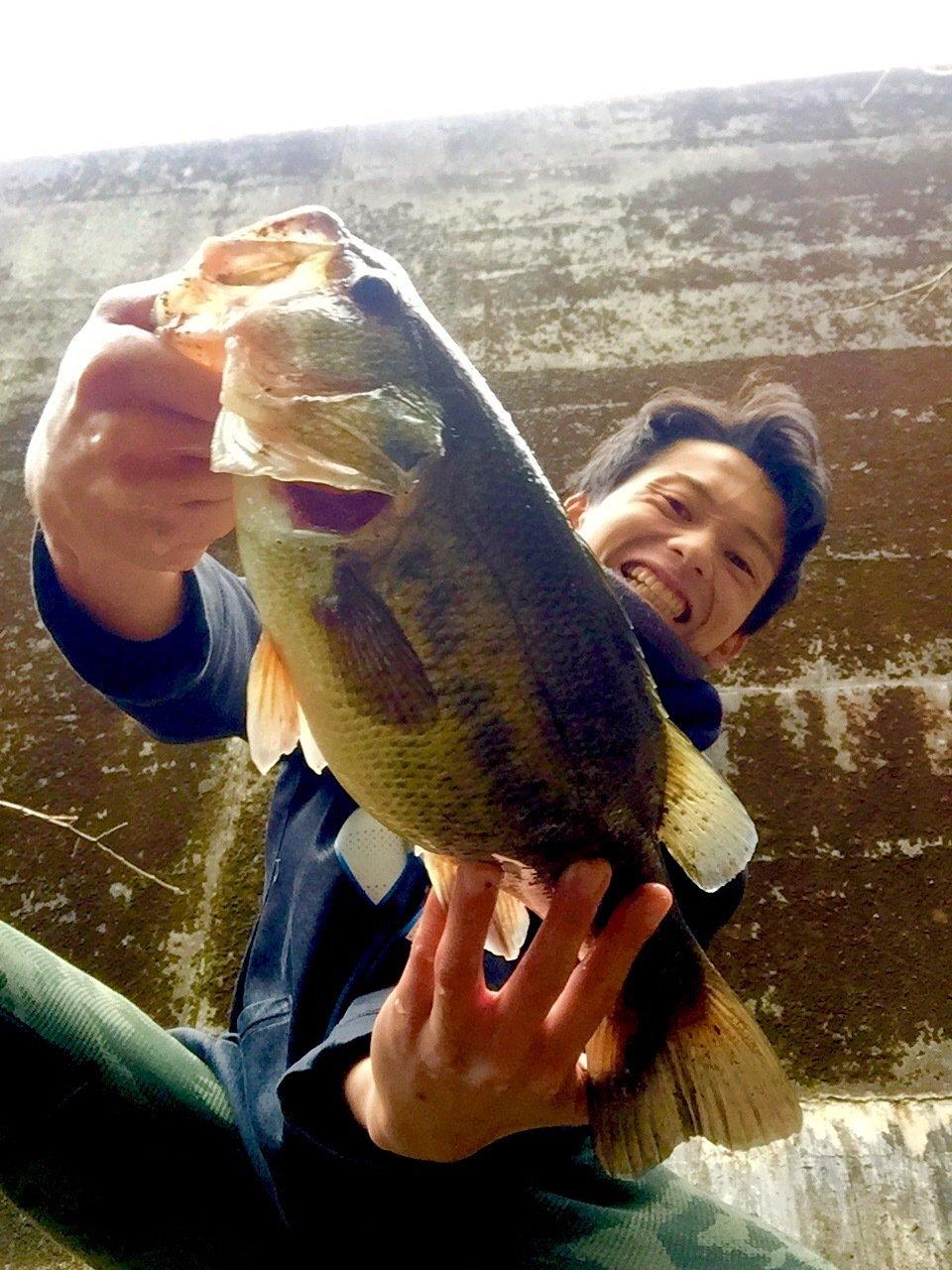 キャズキさんの投稿画像,写っている魚はブラックバス