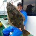 長谷川工さんの千葉県いすみ市でのヒラメの釣果写真