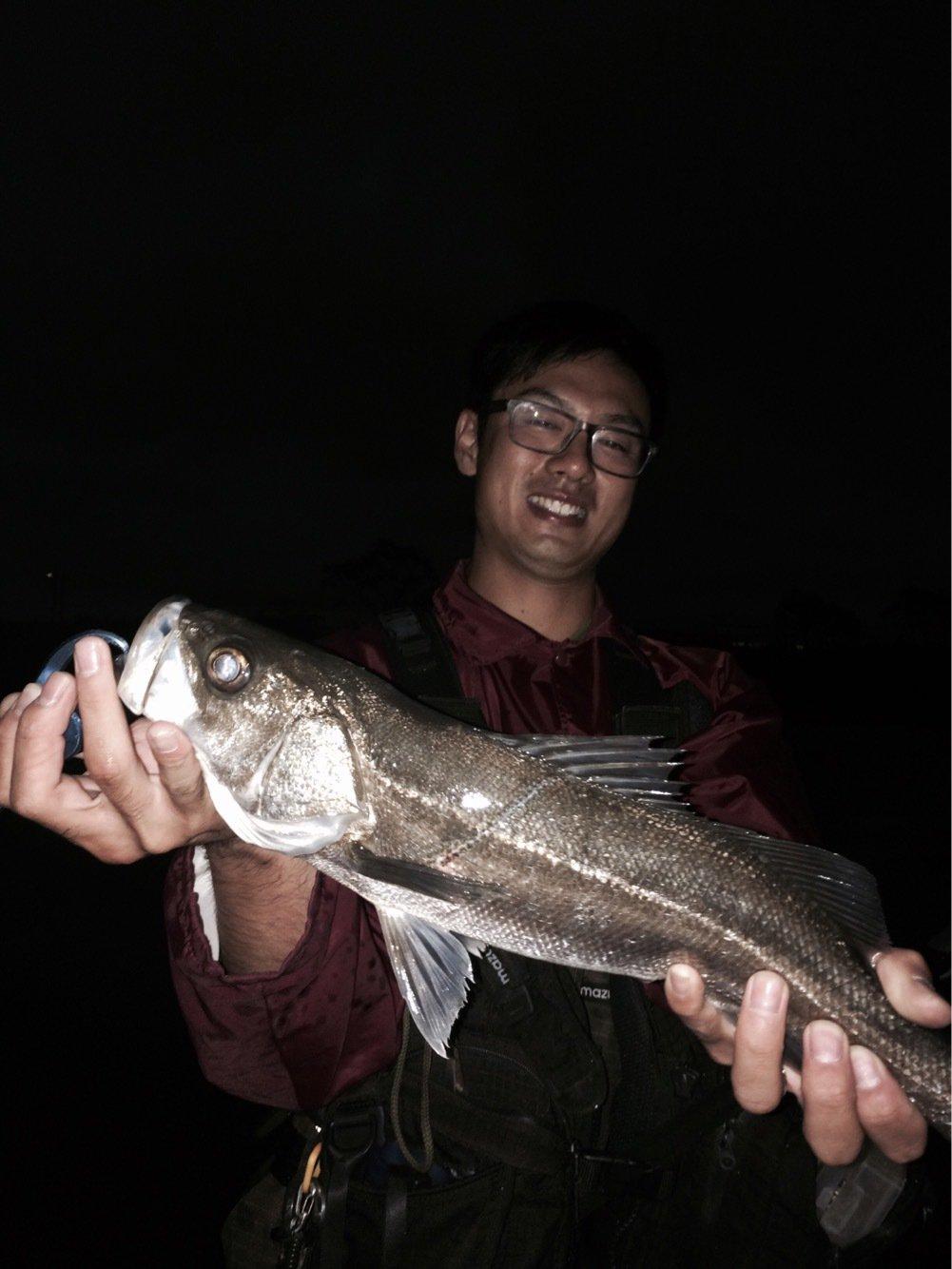まーつさんの投稿画像,写っている魚はスズキ