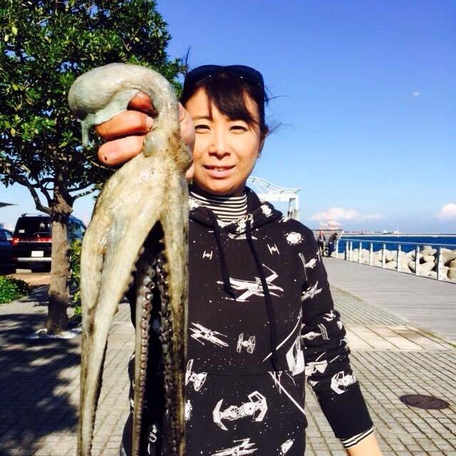 Masakoさんの投稿画像,写っている魚はマダコ