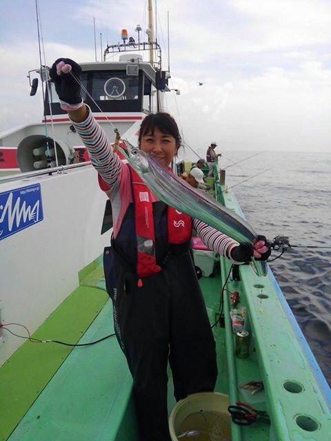 Masakoさんの投稿画像,写っている魚はタチウオ