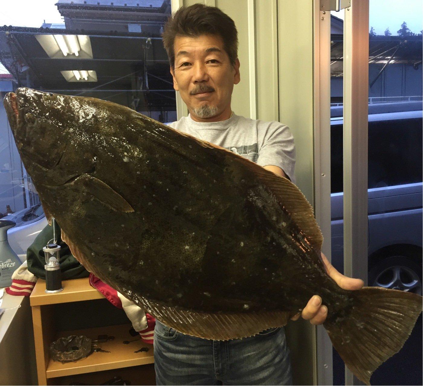 Yuji Pogiさんの投稿画像,写っている魚はヒラメ