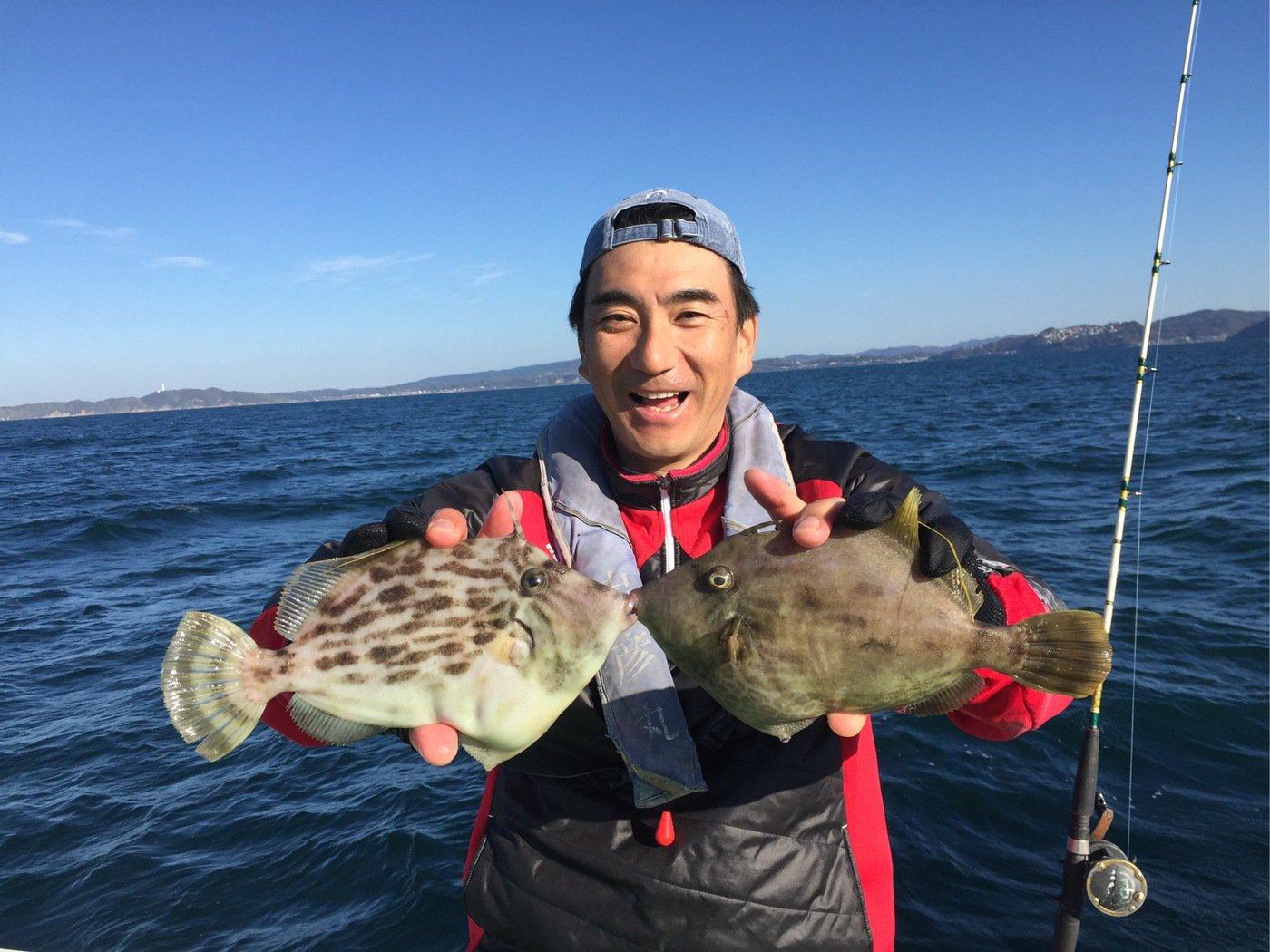 しんきょうさんの投稿画像,写っている魚はカワハギ