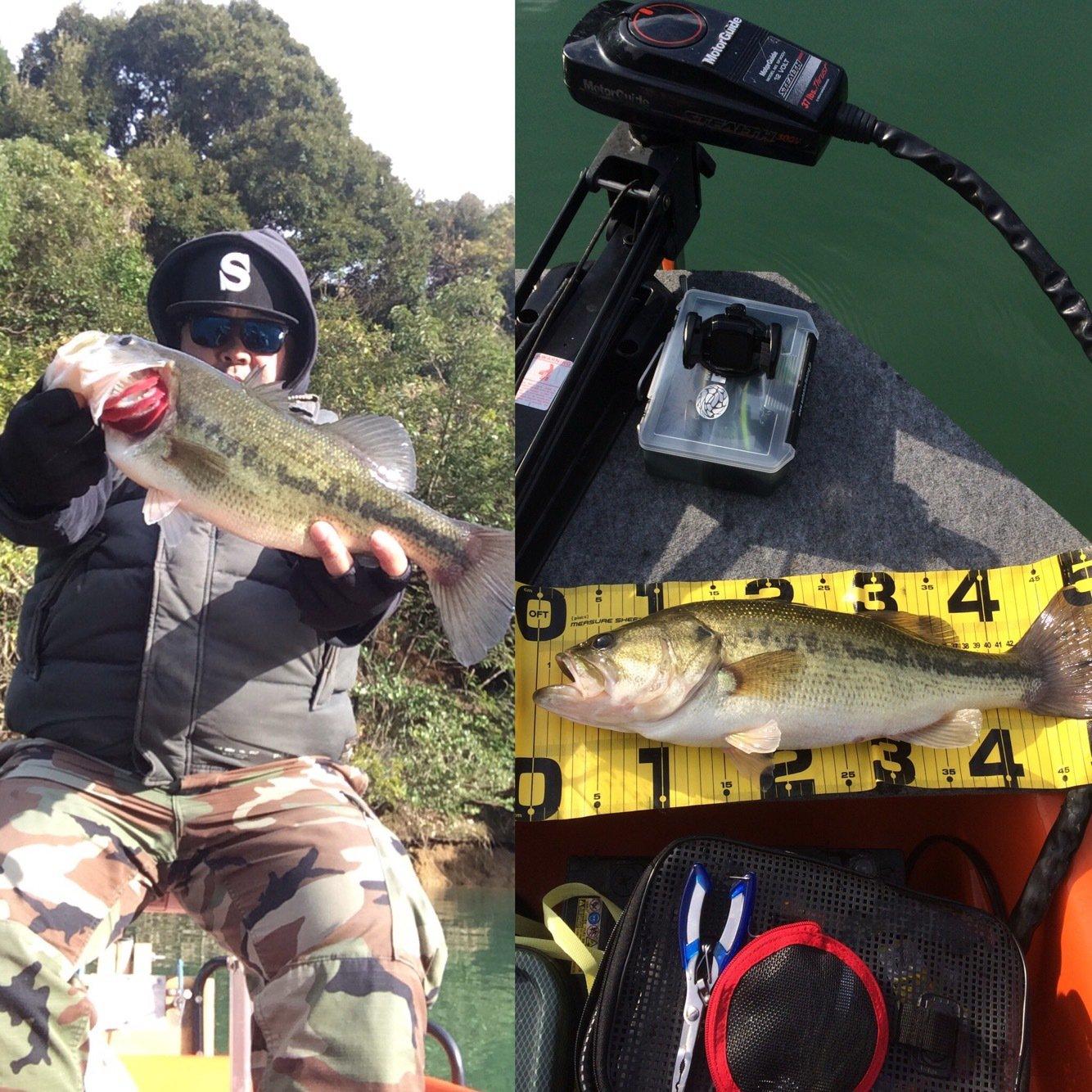 ナガシマさんの投稿画像,写っている魚はブラックバス