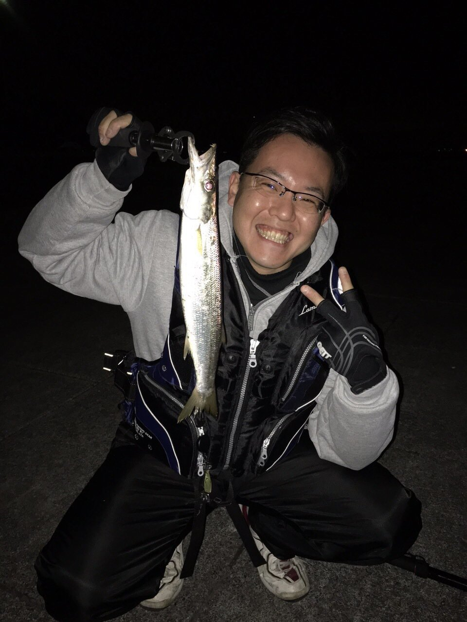 ゆうとさんの投稿画像,写っている魚はオオメカマス