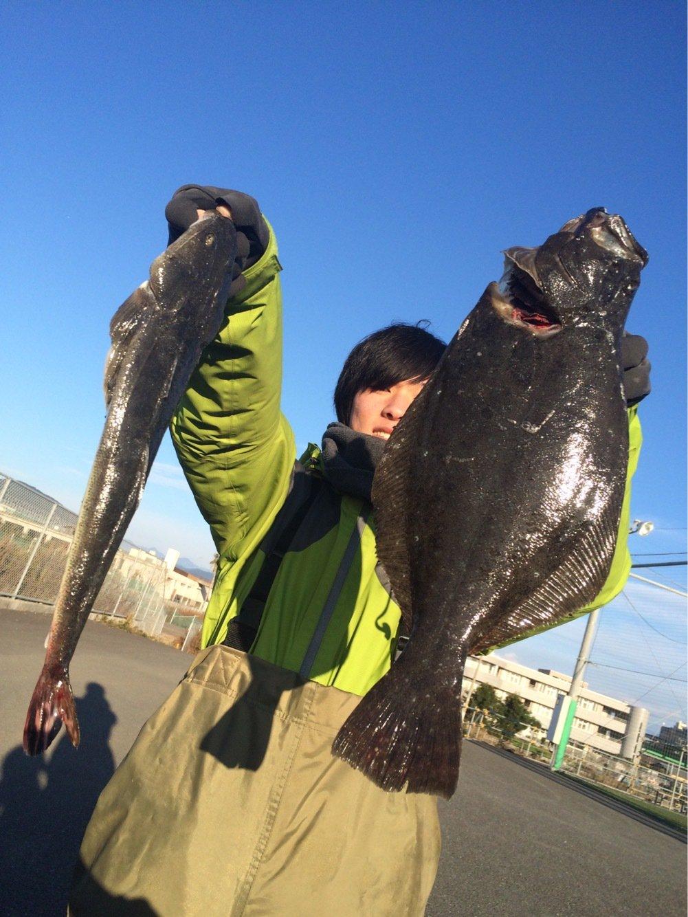 エンドウさんの投稿画像,写っている魚はヒラメ