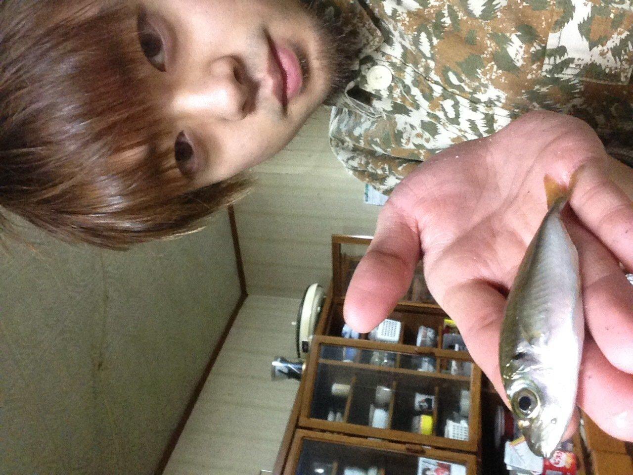 みなとさんの投稿画像,写っている魚はアジ