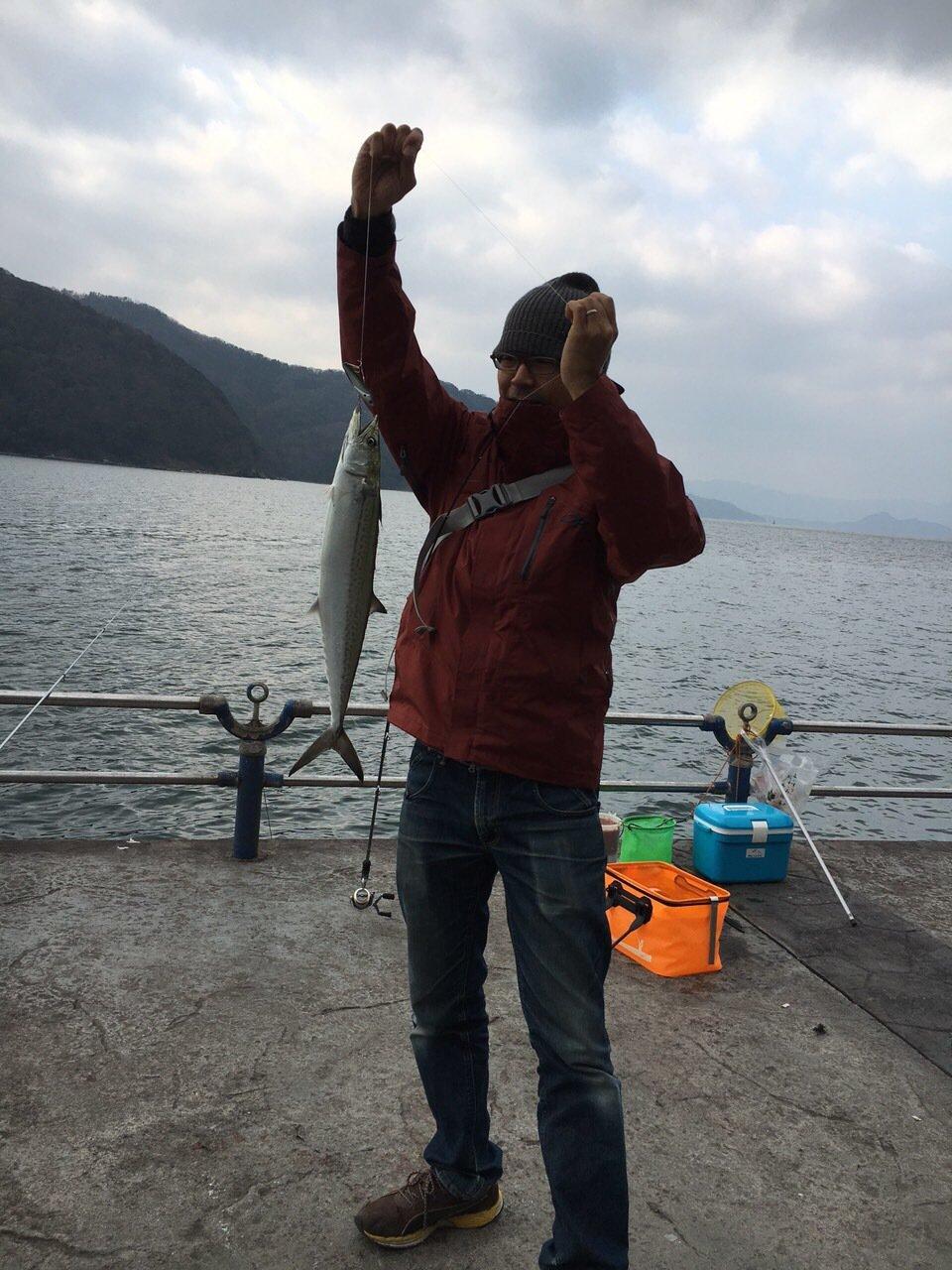 信さんの投稿画像,写っている魚はサワラ