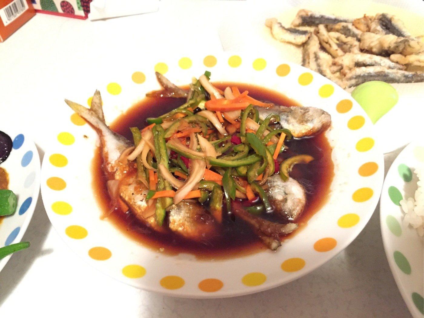 Ayatoさんの投稿画像,写っている魚はアジ