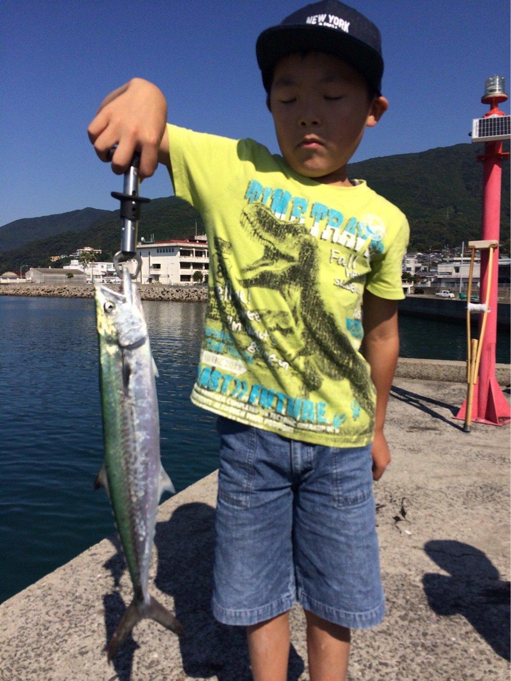 浬さんの投稿画像,写っている魚はサワラ