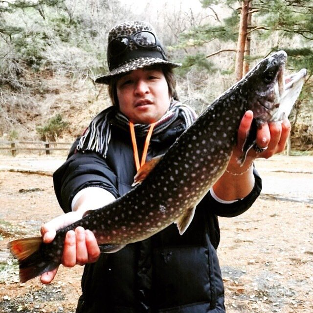 inp 0808さんの投稿画像,写っている魚はイワナ