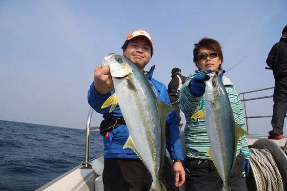 大介さんの投稿画像,写っている魚はヒラマサ