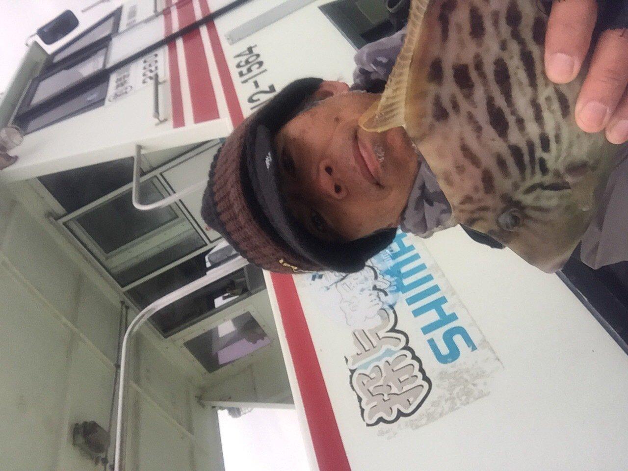 長嶋賢治さんの投稿画像,写っている魚はカワハギ