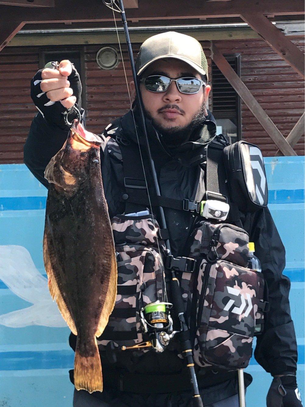 hidekiさんの投稿画像,写っている魚はヒラメ