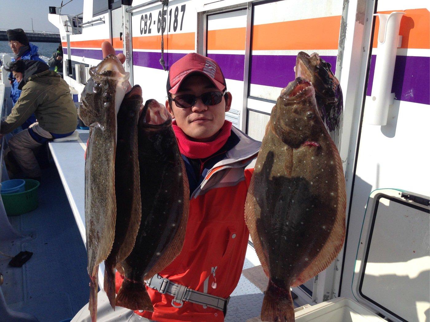 奥山 賢祐さんの投稿画像,写っている魚はヒラメ