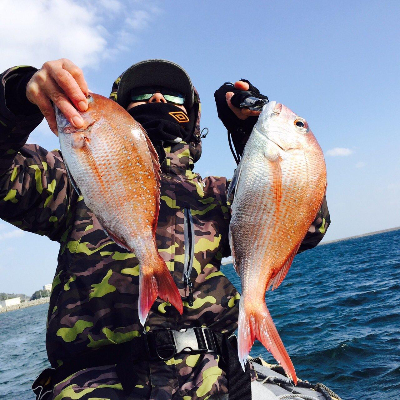ヒロさんの投稿画像,写っている魚はマダイ