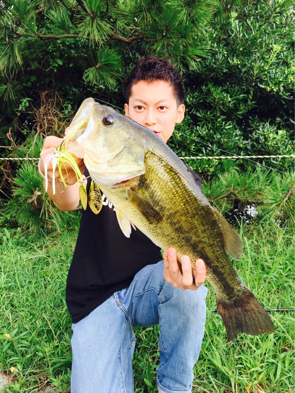 YuichiroHondaさんの投稿画像,写っている魚はブラックバス