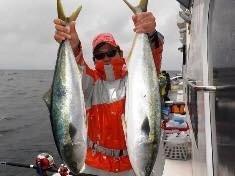 ジョーコーギーさんの投稿画像,写っている魚はワラサ