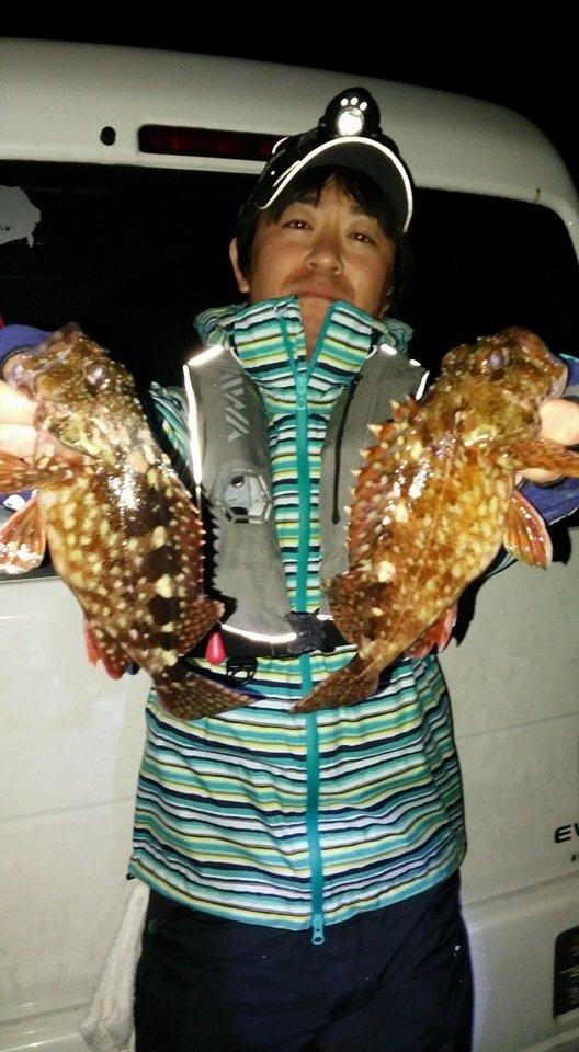 ミヤモトミチヒコさんの投稿画像,写っている魚はカサゴ