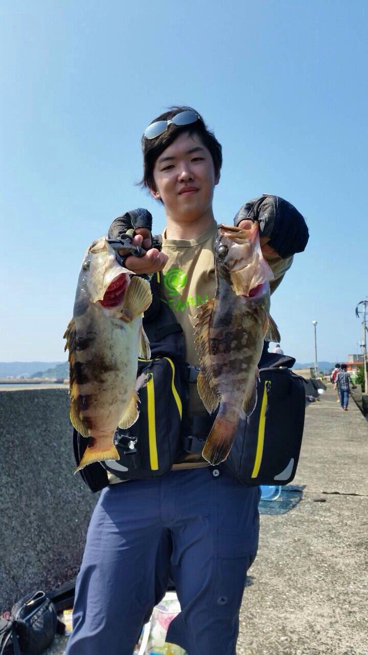 ヒキジリさんの投稿画像,写っている魚はクエ