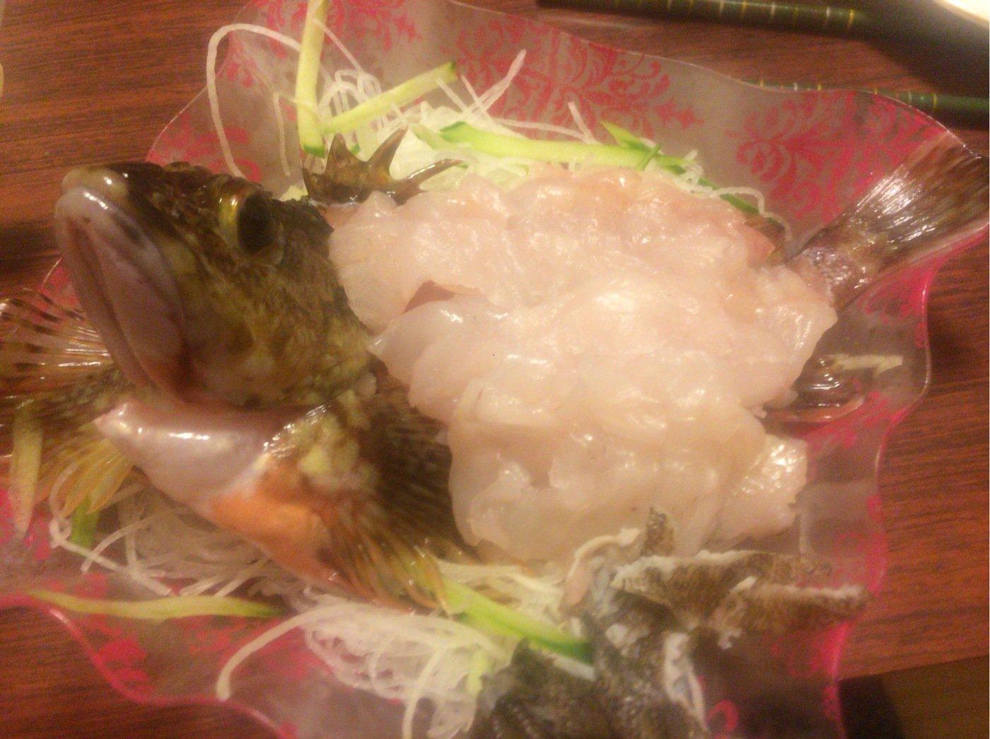 ごぼ天さんの投稿画像,写っている魚はカサゴ