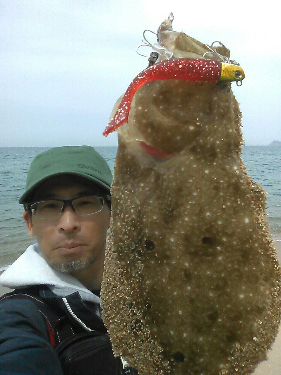 Ryuji さんの投稿画像,写っている魚はヒラメ