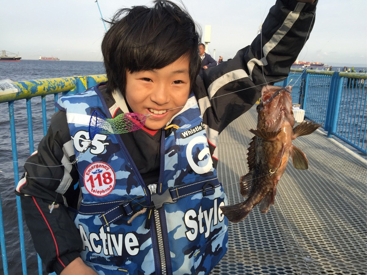 はにおさんの投稿画像,写っている魚はカサゴ