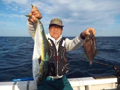 ジョーコーギーさんの投稿画像,写っている魚はブリ