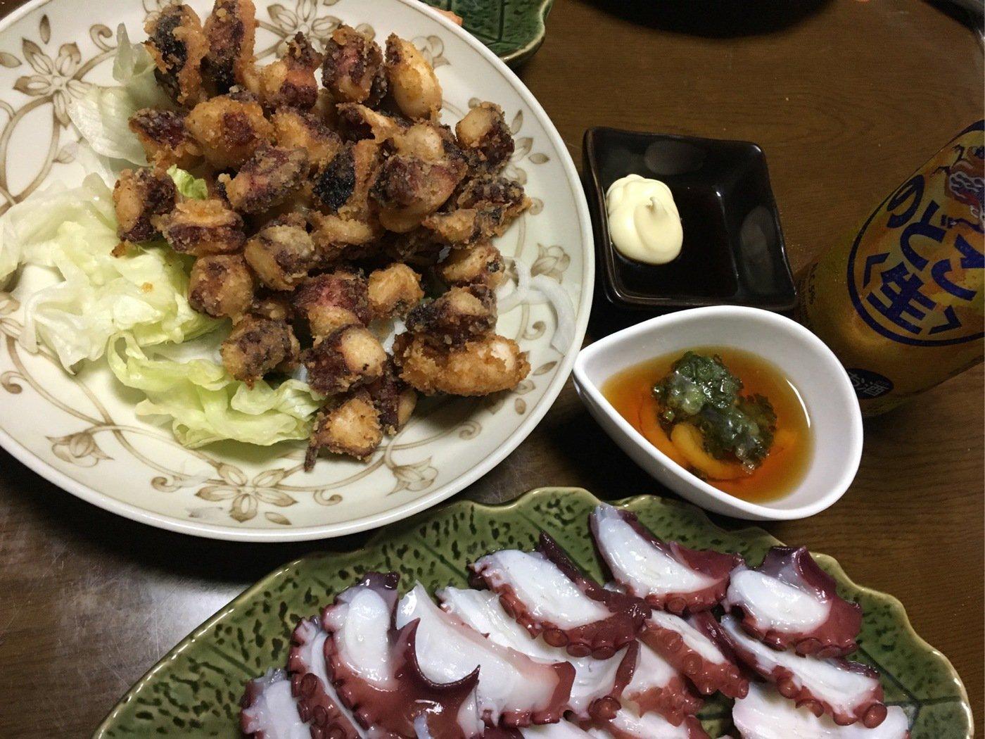 高橋新陽さんの投稿画像,写っている魚はマダコ