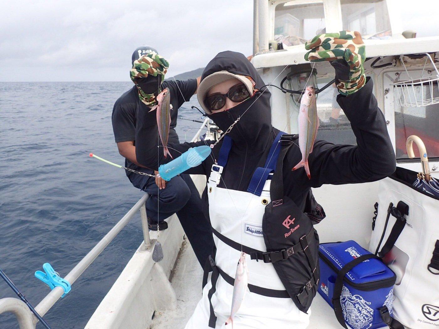 ユミさんの投稿画像,写っている魚はタカサゴ