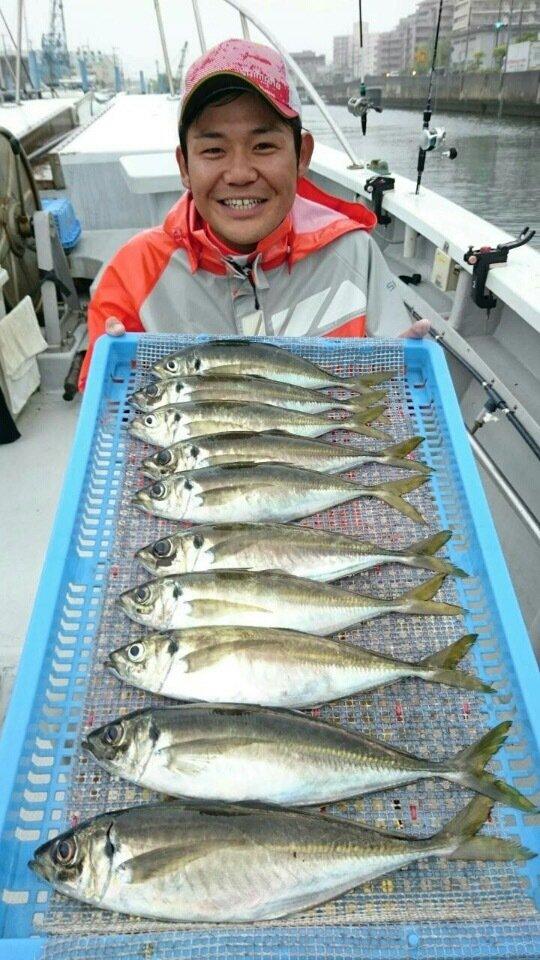 ジョーコーギーさんの投稿画像,写っている魚はアジ